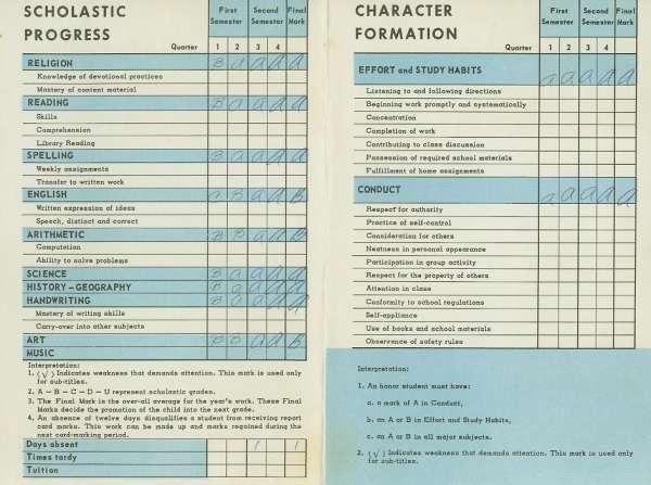 grade 4 report card  Elizabeth Garcia, Grade 7 Report Card 7 - 7