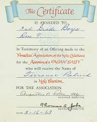 pagan baby certificate